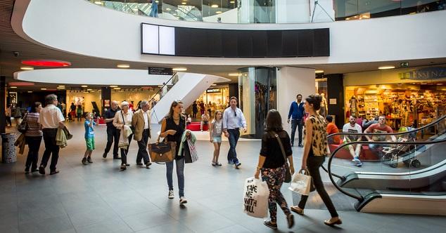 Movimentos nos shoppings cresce 0,59% em fevereiro